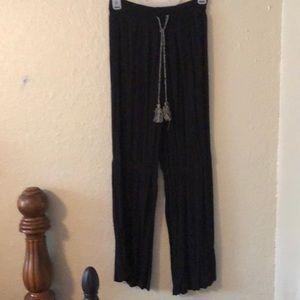 Flowy black pants sz S or 3-5